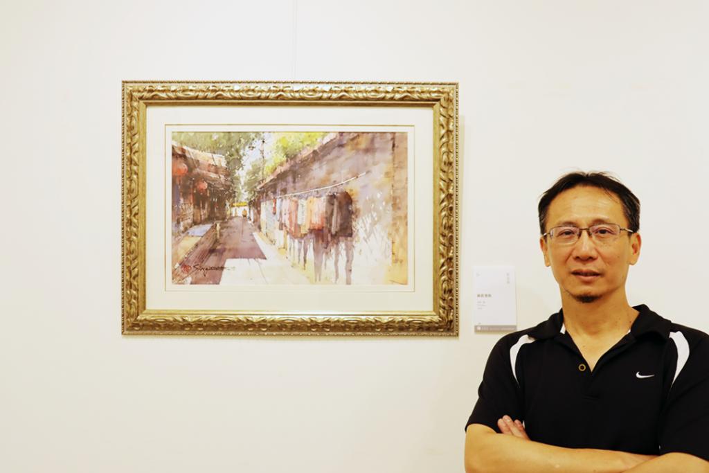 郭金昇用水彩揮灑30年寶島情 口袋美景特選家鄉新莊展出